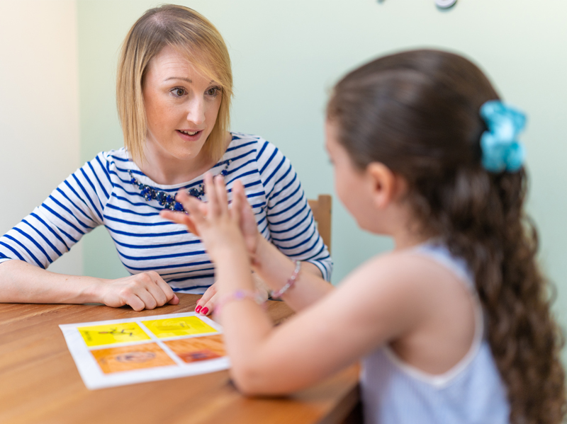 Home assessment for language therapy
